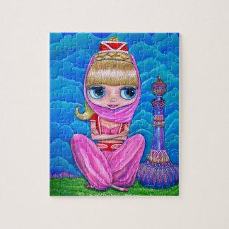 Rompecabezas rosado de la muñeca de los genios y d