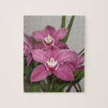 Rompecabezas rosado de las orquídeas del Cymbidium