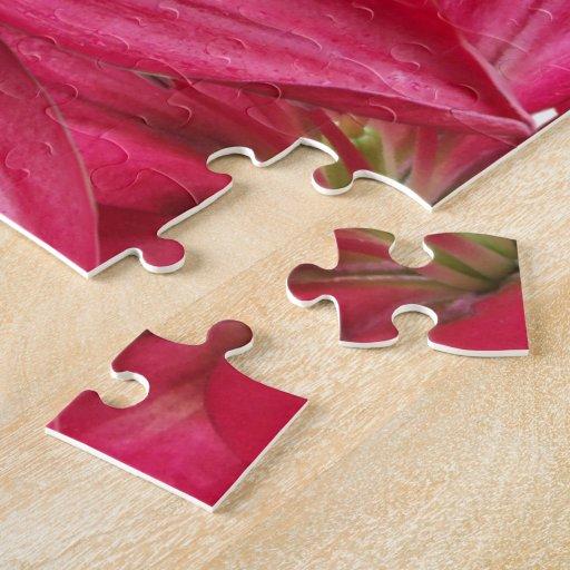 Rompecabezas rosado de los lirios