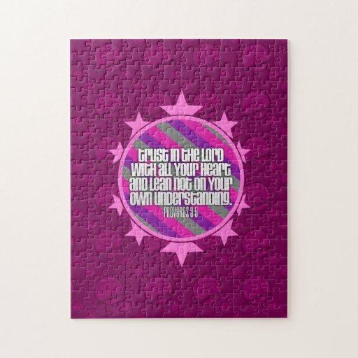 Rompecabezas (rosado) del 3:5 de los proverbios