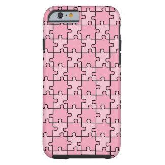 Rompecabezas rosado del caso del iPhone 6 de la Funda De iPhone 6 Tough