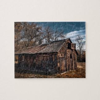Rompecabezas rural de la cabina de la granja