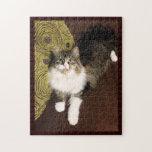 Rompecabezas siberiano del gato