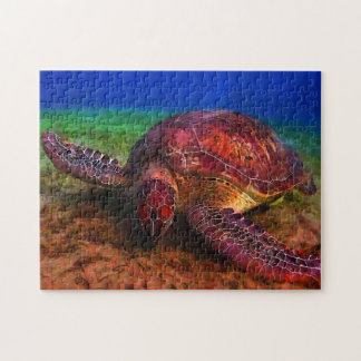 Rompecabezas solitario de la tortuga de mar