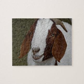 Rompecabezas sonriente de la cabra