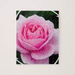 Rompecabezas subió del rosa en colores pastel