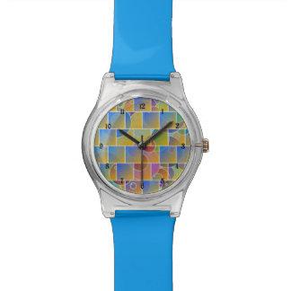 Rompecabezas tejado colorido relojes de mano