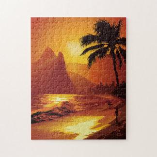 Rompecabezas tropical de la playa de Copacabana