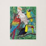 Rompecabezas tropical de los pájaros