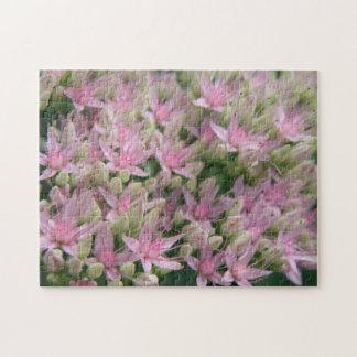 Rompecabezas tropical rosado bonito de Fkowers