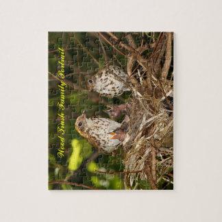 Rompecabezas, Trush de madera, retrato de la famil Rompecabezas Con Fotos