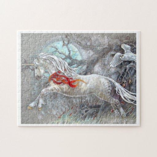 Rompecabezas - unicornio del día de fiesta