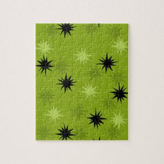 Rompecabezas verde atómico de Starbursts