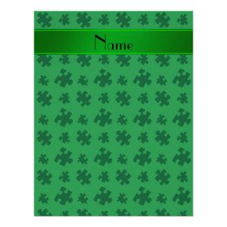 Rompecabezas verde conocido personalizado plantillas de membrete