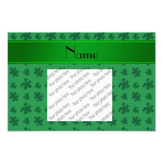 Rompecabezas verde conocido personalizado impresión fotográfica
