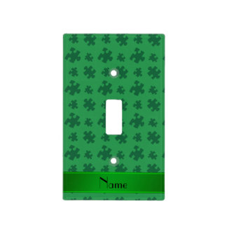 Rompecabezas verde conocido personalizado placa para interruptor