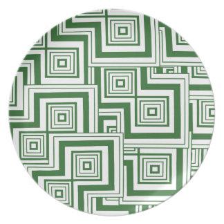 Rompecabezas verde plato para fiesta