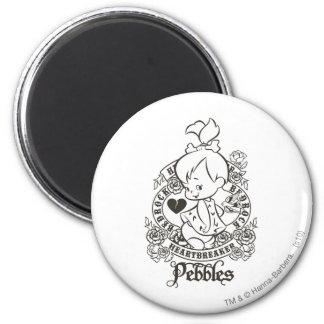 Rompecorazones 1 de PEBBLES™ Imán Redondo 5 Cm