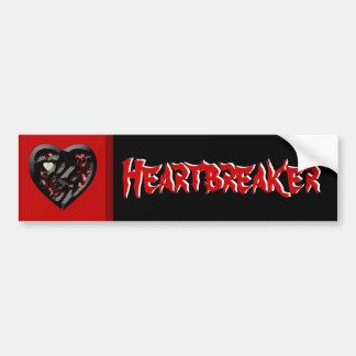 Rompecorazones del corazón quebrado pegatina para auto