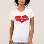 Rompecorazones del día de las Anti-Tarjetas del dí Camisetas