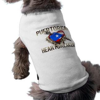 Rompecorazones puertorriqueño playera sin mangas para perro
