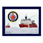 Rompehielos HEALY, mar de Beaufort, Alaska de USCG Tarjeta Postal