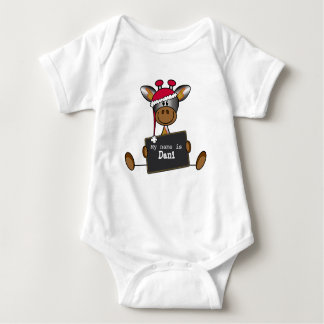 Rompertje with an illustration of a lief girafje baby bodysuit