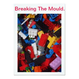 """Rompiendo el molde - producto invitación 5"""" x 7"""""""