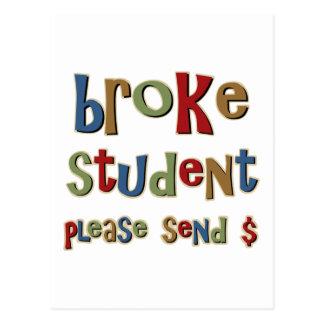 Rompió al estudiante envían por favor el dinero tarjetas postales