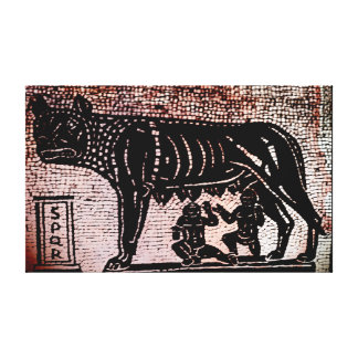 Romulus and Remus Gallery Wrap Canvas