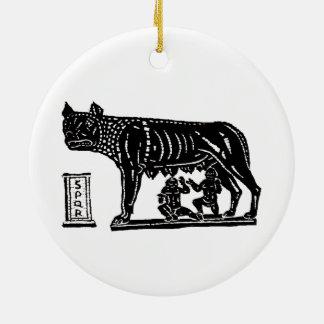 Romulus and Remus Roman Mythology Ceramic Ornament