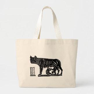 Romulus and Remus Roman Mythology Large Tote Bag