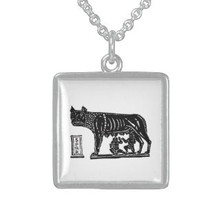 Romulus and Remus Roman Mythology Sterling Silver Necklace