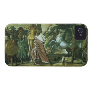 Romulus, conqueror of Acron, taking his booty to t iPhone 4 Case-Mate Case