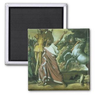 Romulus, conquistador de Acron, llevando su botín  Imán Cuadrado