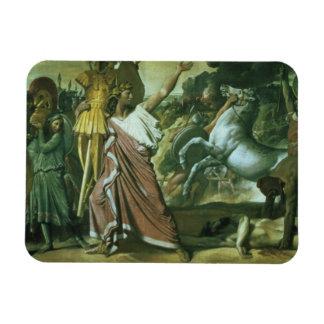 Romulus, conquistador de Acron, llevando su botín  Imán Foto Rectangular