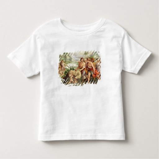 Romulus suckled by the she-wolf toddler t-shirt
