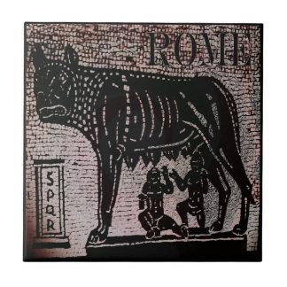 Romulus y Remus Azulejo Cuadrado Pequeño