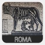 Romulus y Remus Colcomanias Cuadradas