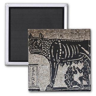 Romulus y Remus Imán Cuadrado