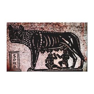 Romulus y Remus Lona Envuelta Para Galerías
