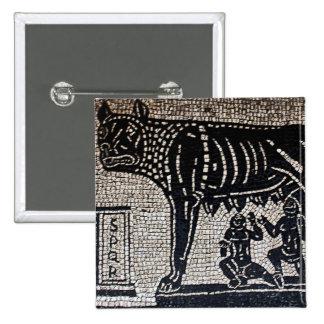Romulus y Remus Pin Cuadrado