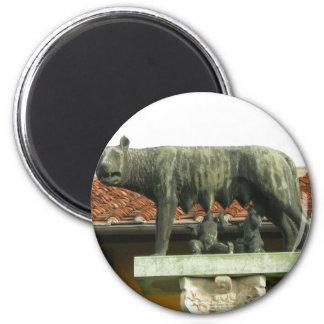 Romulus y Remus - Roma antigua Imán Redondo 5 Cm