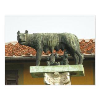 Romulus y Remus - Roma antigua Invitación 10,8 X 13,9 Cm