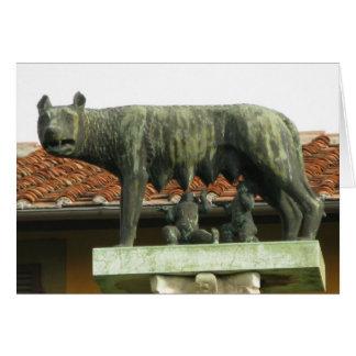 Romulus y Remus - Roma antigua Felicitacion