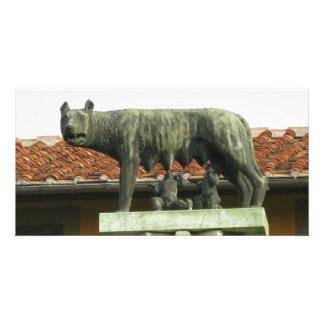 Romulus y Remus - Roma antigua Tarjeta Fotografica