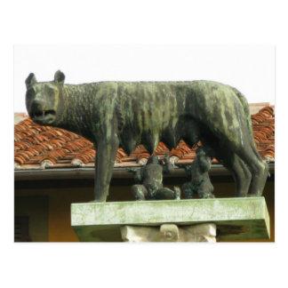Romulus y Remus - Roma antigua Postal