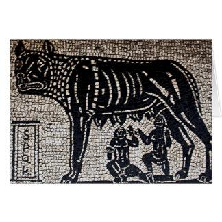 Romulus y Remus Tarjeta De Felicitación