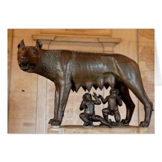 Romulus y Remus Tarjeta Pequeña