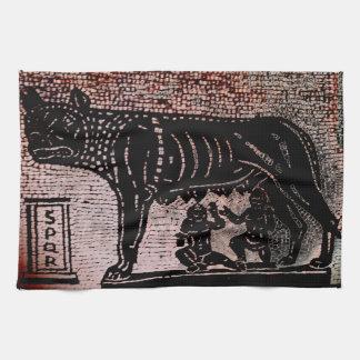 Romulus y Remus Toallas De Cocina